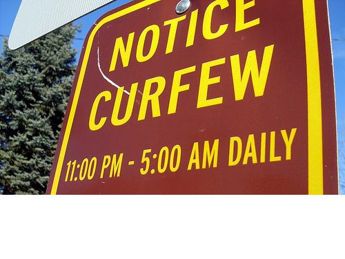 teen curfew laws being enforced essay