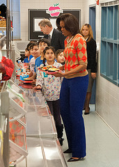 Michelle Obama visits elementary school