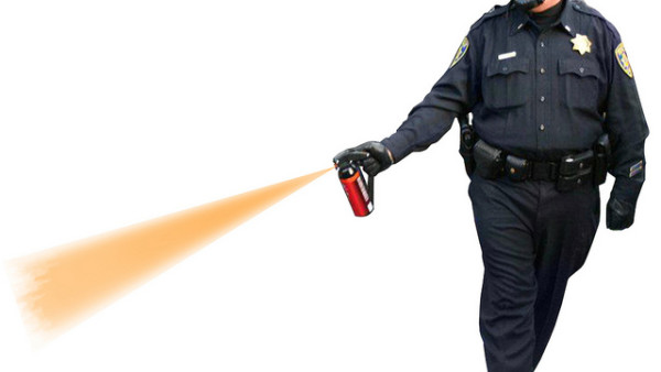 pepper spray police officer