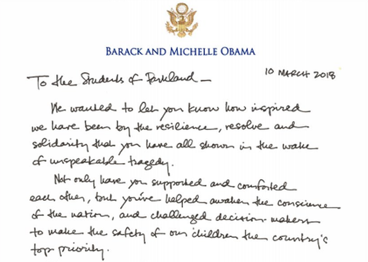Obama letter to MSD students