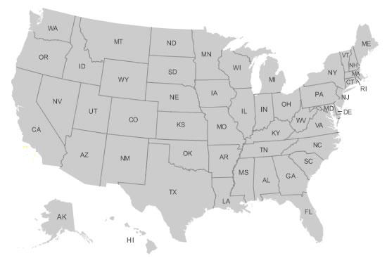 clickable USA map