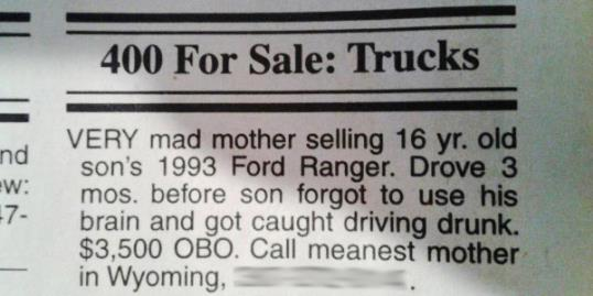 Mean Mom Sells Truck