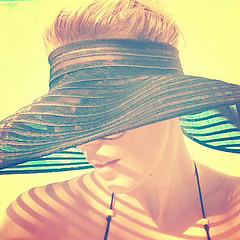 Girl with sunhat