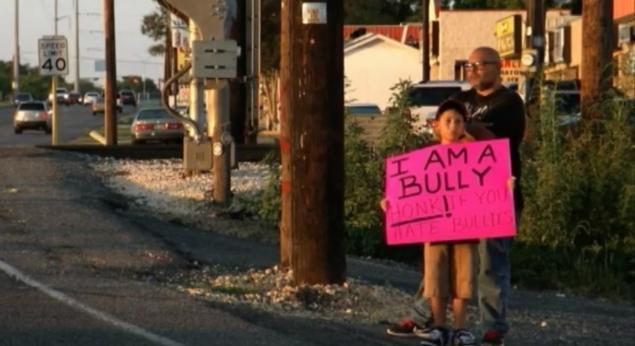 dad shaming bully son