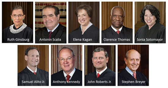 supreme court justices 2015