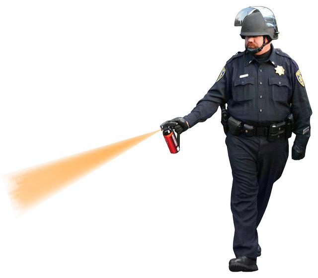 pepper spray police officer